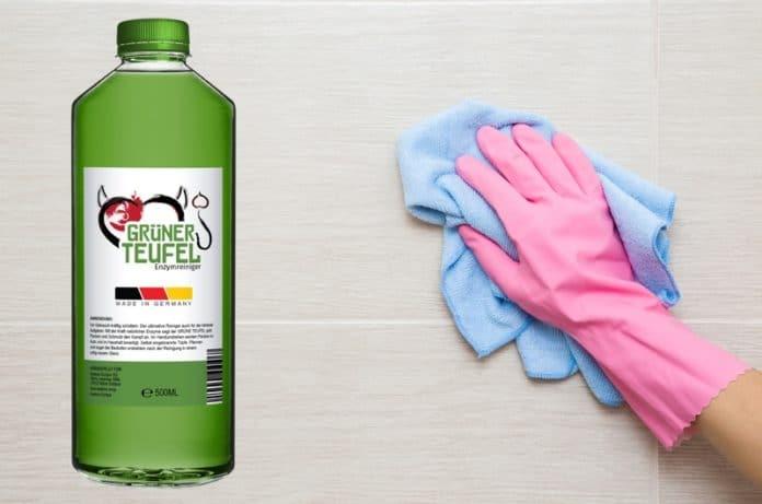 grüner Teufel Enzymreiniger Test